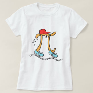 Long Running Pi TShirts - Funny Pi Guy
