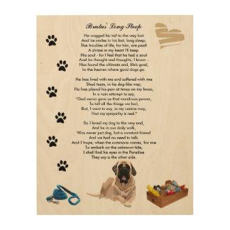 Long Sleep Poem Death Dog Rainbow Bridge Wood Canvas