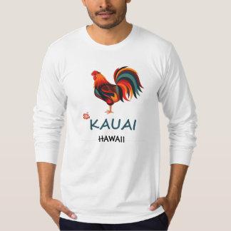 Long Sleeve Hawaiian T-shirt Kauai Wild Rooster