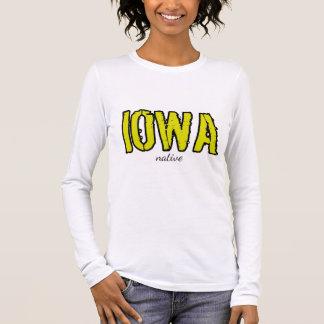 "Long Sleeve - ""Iowa"" Native Print Long Sleeve T-Shirt"