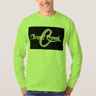 long sleeve mens tee w/black chapel brook logo