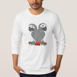 Long sleeve Parrot Men's Top Tee Shirt