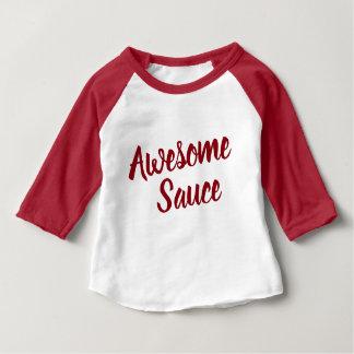 Long Sleeve Raglan Awesome Sauce Cute Typography Baby T-Shirt