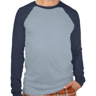 Long Sleeve Raglan Light Blue Navy T Shirt