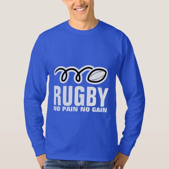Long sleeve Rugby shirt | no pain no
