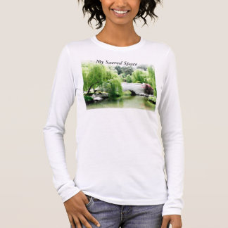 Long Sleeve Yoga T-Shirt, My Sacred Space T-Shirt