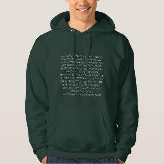 Long Sleeved Hoodie Man letters story