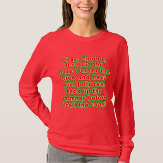 Long Sleeved Tees - Bad chubby Santa