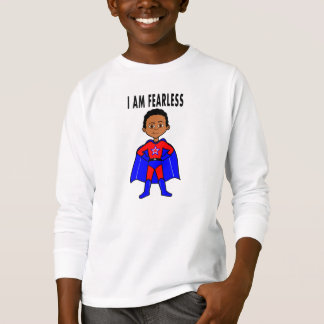 Long-sleeves Superhero I AM FEARLESS t-shirt boys