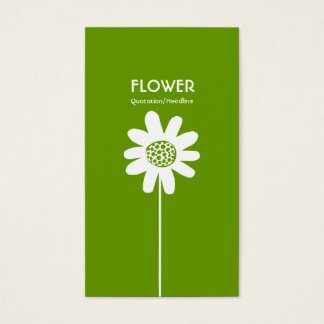 Long Stem Flower VI - Avocado Green Business Card