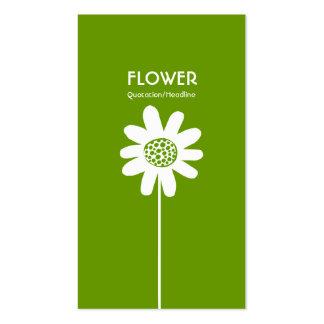 Long Stem Flower VI - Avocado Green Business Card Templates