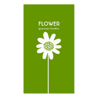 Long Stem Flower VI - Avocado Green Pack Of Standard Business Cards
