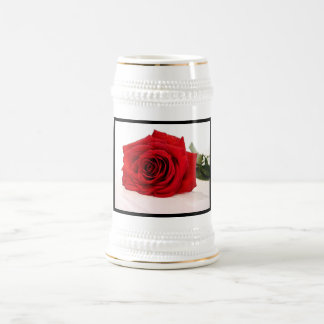 Long Stem Red Rose Beer Stein Mugs