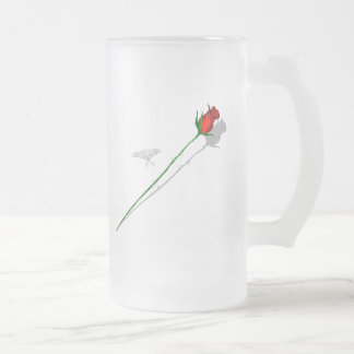 Long Stem Rose and Butterfly  Mug