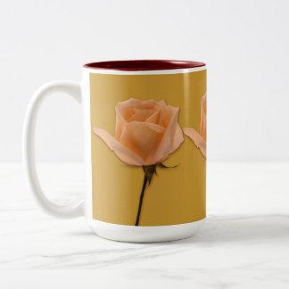 Long Stem Rose Two-Tone Coffee Mug