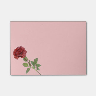 Long Stemmed Red Rose Post It Notes Post-it® Notes