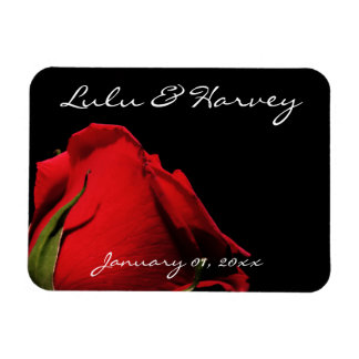 Long Stemmed Red Roses Personal Wedding Rectangular Photo Magnet