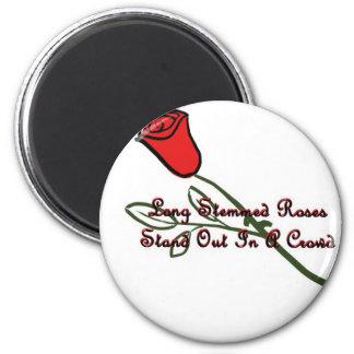 Long Stemmed Roses 6 Cm Round Magnet