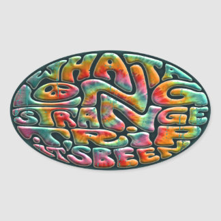 Long, Strange Trip Oval Sticker