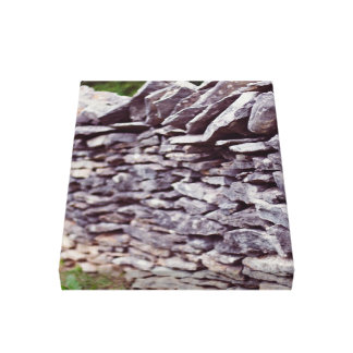 long sturdy stacked stones gallery wrapped canvas