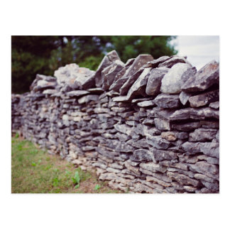long sturdy stacked stones postcard