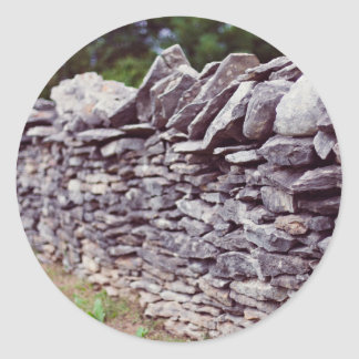 long sturdy stacked stones round sticker