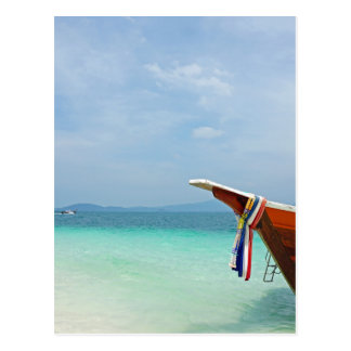 long tail boat in thailand postcard