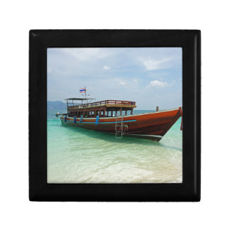 long tail boat in thailand small square gift box