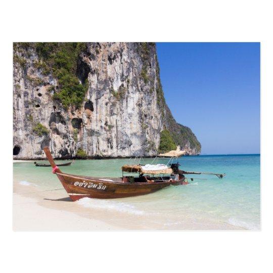Long Tail Boat Postcard