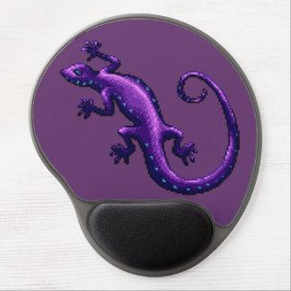 Long Tail Purple Lizard Blue Spots Pixel Gel Mouse Mat