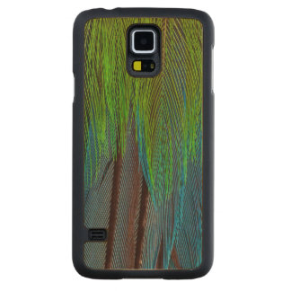 Long-Tailed Broadbill Feather Abstract Maple Galaxy S5 Slim Case