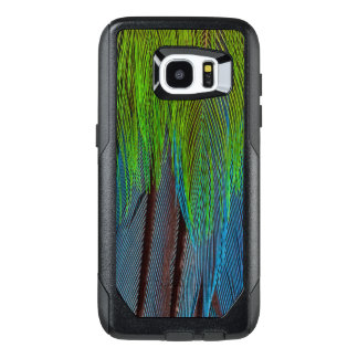 Long-Tailed Broadbill Feather Abstract OtterBox Samsung Galaxy S7 Edge Case