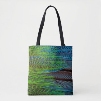 Long-Tailed Broadbill Feather Abstract Tote Bag