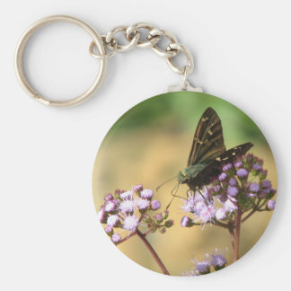 Long-tailed Skipper on Mist Flower Keychain