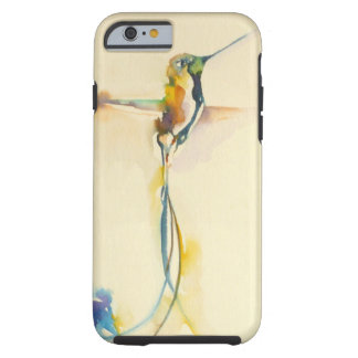 """Long Tails"" Hummingbird Print on Tough iPhone 6 Case"