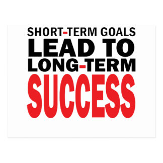 LONG TERM SUCCESS POSTCARD