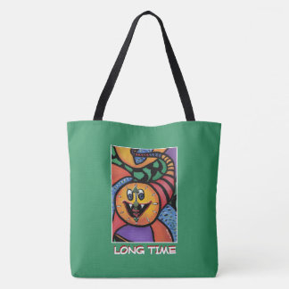 Long Time  - Green  - Time Pieces Tote Bag