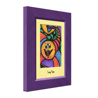 LoNg TiMe Purple Yellow Canvas Wall Art Gallery Wrapped Canvas