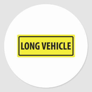 long vehicle classic round sticker