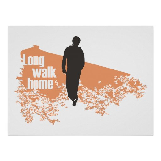 Long Walk Home Salmon print