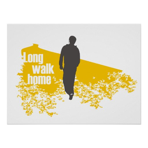 Long Walk Home Yellow print