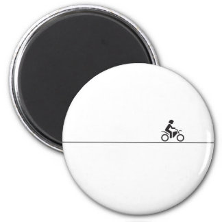 Long way home 6 cm round magnet