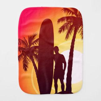 Longboard and palms burp cloth