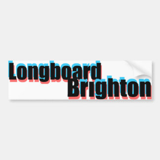 Longboard Brighton 3D  Sticker Bumper Sticker