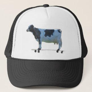 Longboard cow trucker hat
