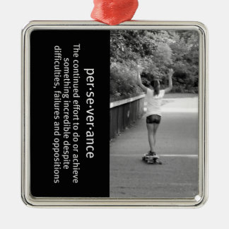 Longboard Girl Perseverance Christmas Ornament