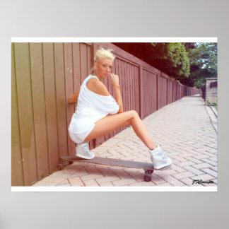 Longboard model Shannon Mae Poster