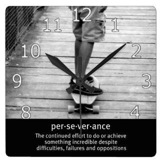Longboard Perseverance Square Wall Clock