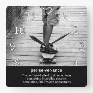Longboard Perseverance Wall Clocks
