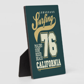 Longboard Surfing | California 76 Plaque